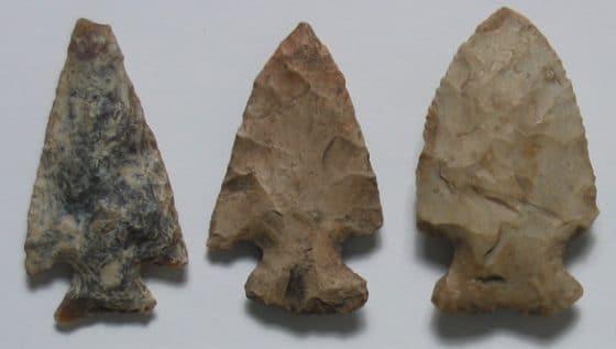 Brogley Rockshelter spear points