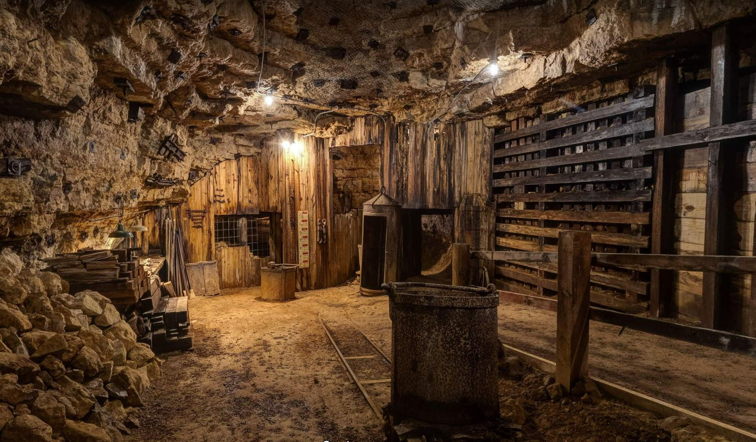 Take a virtual tour of our 1845 Bevans Underground Lead Mine!
