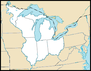 The lands annexed by the Northwest Ordinance of 1787 include what we now call Ohio, Michigan, Indiana, Illinois, Wisconsin, and part of northeast Minnesota.